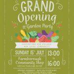 Farmborough Community Shop – Grand Opening and Garden Party